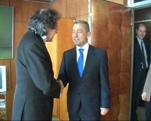 Con el canciller uruguayo, Luis Leonardo Almagro