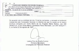 Certificado del Consulado