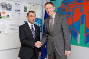 Con Janez Potocnik, comisario europeo de Medio Ambiente