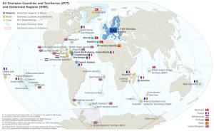 Mapa de las RUP y otros territorios de ultramar de la UE