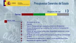 Web de los PGE 2013