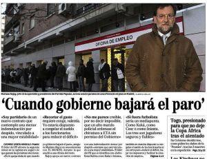 """Rajoy: """"Cuando gobierne bajará el paro"""""""""""
