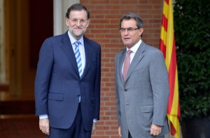Rajoy y Mas