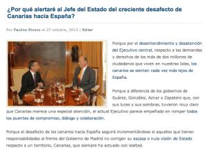 Post sobre las cartas a Rajoy y el Rey