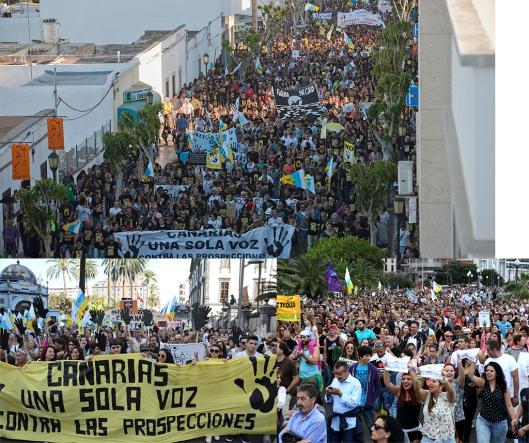 Manifestaciones contra el petróleo