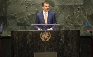 El Rey, en la ONU