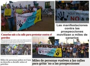 Las manifestaciones del 18 de octubre, en los medios