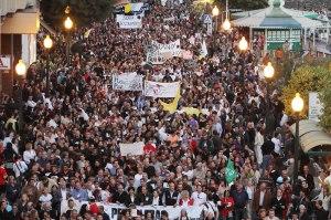 Manifestación en Lanzarote