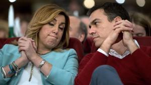 Pedro Sánchez con Susana Díaz