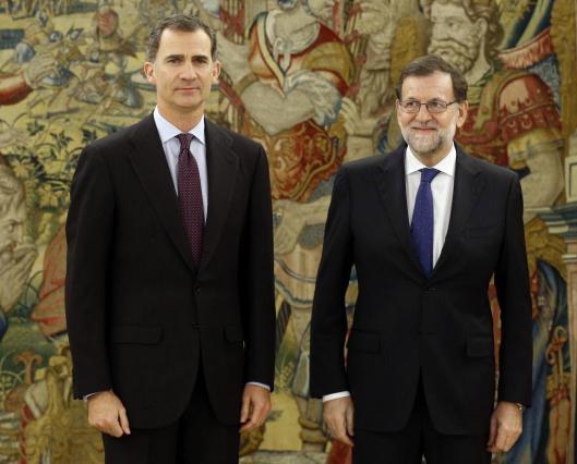 El Rey junto a Mariano Rajoy