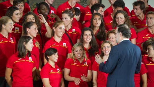 Rajoy, en una recepción oficial con deportistas que compitieron en Río 2016 (WEBDIGITAL)
